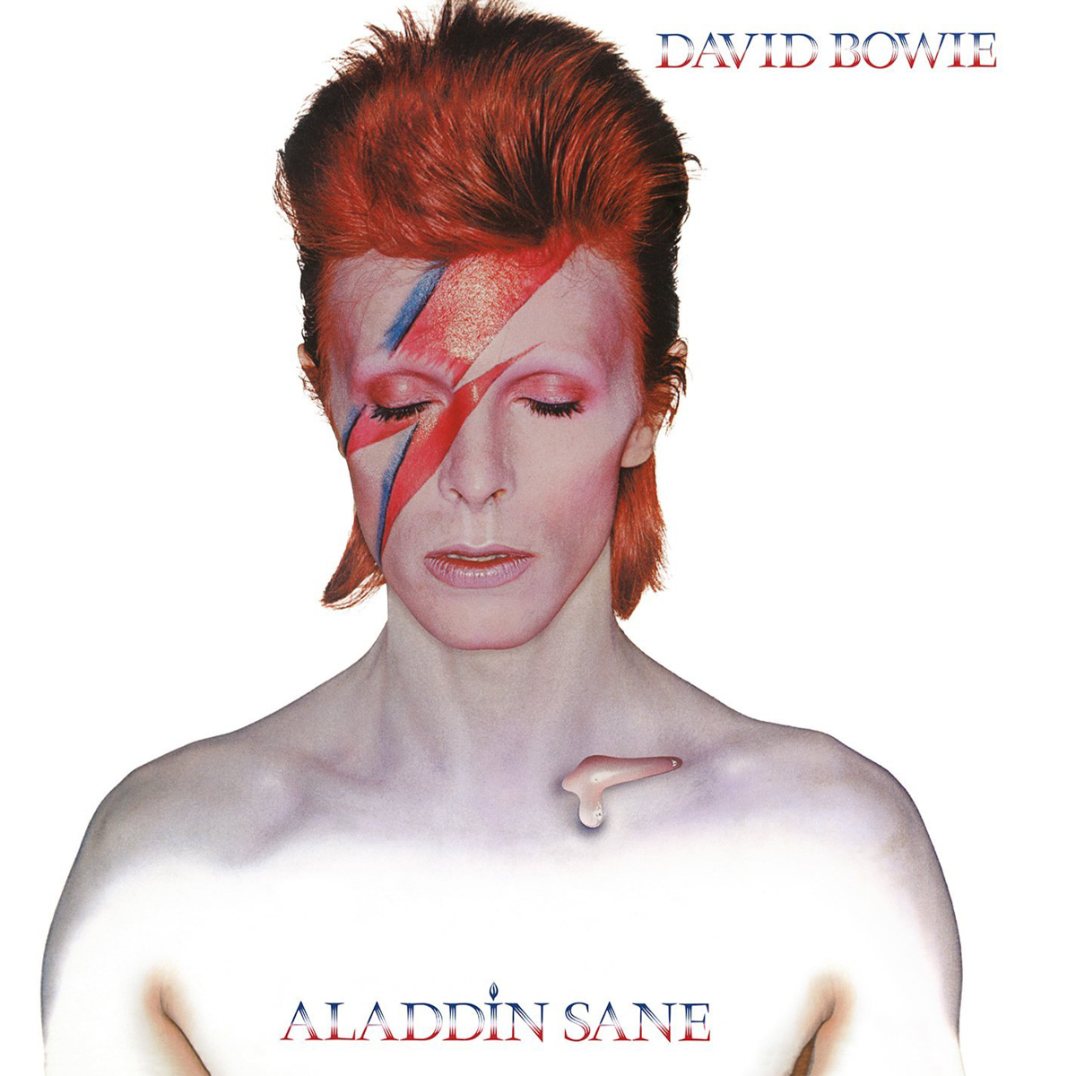 Histoire d'une photo # 9 : Aladdin sane (D. BOWIE) de B. DUFFY ; L'album cover artwork.