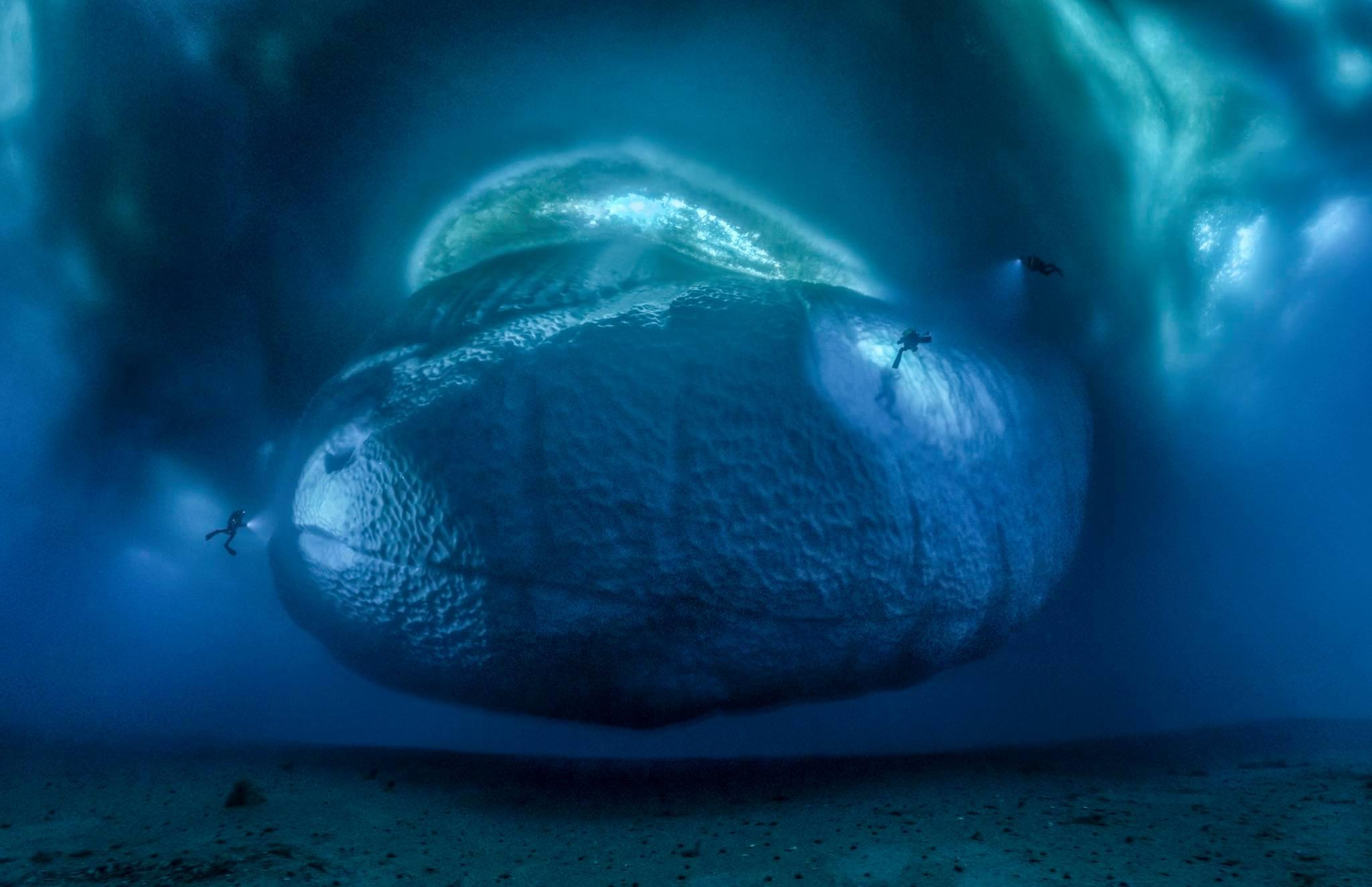 Histoire d'une photo#11 : Ice monster de L. Ballesta : la photo sous marine.