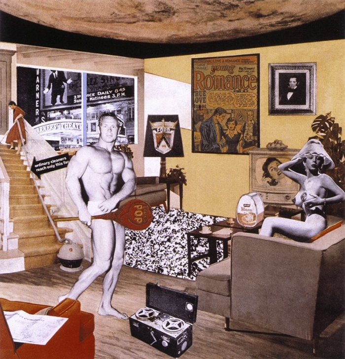 HDP # 12. Just what is it that makes today's homes so different, so appealing ? de R. Hamilton : le photomontage.